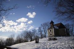 Kapelle auf Medvednica stockfotografie