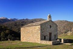 Kapelle bei Sant Antone, Korsika Lizenzfreies Stockfoto
