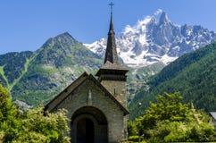 Kapelle in den französischen Alpen Lizenzfreies Stockbild