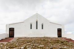 Kapelle an der Spitze Croagh Patrick Stockbilder