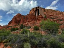 Kapelle des heiligen Kreuzes in Sedona, Arizona Stockfotos