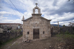 Kapelle im religiösen Stein in der Wiederherstellung, Portugal Stockbilder