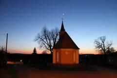 Kapelle nachts Stockfoto