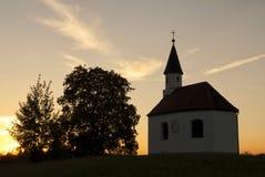 Kapelle nahe Steingaden Lizenzfreies Stockfoto