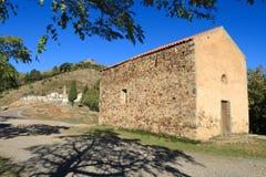 Kapelle in Piogiolla, Korsika Stockbilder