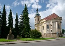 Kapelle in Smirice, Tschechische Republik lizenzfreie stockfotografie