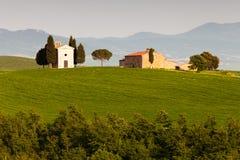 Kapelle in Toskana lizenzfreies stockbild