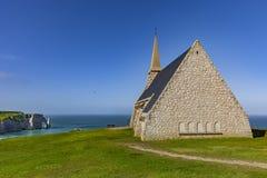 Kapelle von Etretat stockbilder