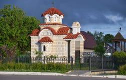 Kapelle von gesegnetem Matrona von Moskau in Radonezh-Dorf, Bezirk Sergiev Posad, Moskau-Region Stockbilder