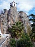 Kapelle von Guadelest, Spanien lizenzfreies stockbild