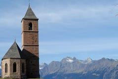 Kapelle von Hafling Stockfotos