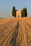 Kapelle von Vitaleta in Val-d'Orcia Lizenzfreies Stockfoto