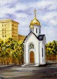 Kapelle zu Ehren heiligen Nikolay Lizenzfreie Stockbilder