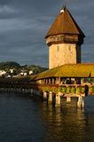 Kapellen-Brücke über Reuss-Fluss Lizenzfreie Stockfotografie