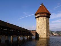 Kapellen-Brücke 03, Luzerne/Luzern, die Schweiz Lizenzfreies Stockbild
