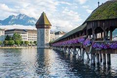 Kapellen-Brücke stockfoto