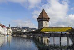 Kapellen-Brücke Stockbilder