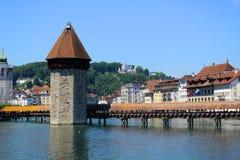 Kapellen-Brücke, Luzerne, die Schweiz Lizenzfreie Stockfotografie