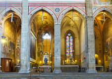 Kapellen in den Apsis von Basilikadi Santa Croce. Florenz, Italien Lizenzfreie Stockbilder