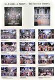 Kapellen-Karte Michelangelos s Sistine Lizenzfreies Stockbild