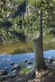 Kapellen-Teich in den Adirondack-Bergen des Staat New York Stockbild