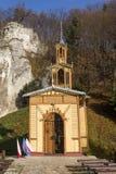 Kapellenschalter Jozefa-Handwerker nannte die Kapelle auf dem Wasser in Ojcowie Lizenzfreies Stockbild
