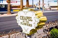Kapellet av blommorna Las Vegas Nevada Royaltyfri Foto