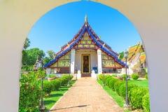 Kapellet av den Wat Phra Borom That Thung Yang templet fotografering för bildbyråer