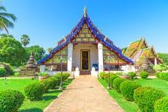 Kapellet av den Wat Phra Borom That Thung Yang templet arkivbild