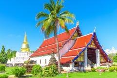 Kapellet av den Wat Phra Borom That Thung Yang templet arkivfoton
