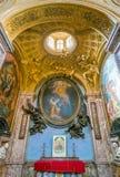 Kapellet av förklaringen planlade vid Gian Lorenzo Bernini, i basilikan av helgonet Lawrence i Lucina i Rome, Italien arkivbilder