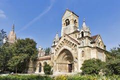 Kapellet av Jak den gotiska kyrkan budapest slottvajdahunyad Royaltyfria Foton