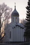Kapellet av St George det segerrikt, Alexander Nevsky och Dmitry Donskoy omsk Royaltyfri Bild