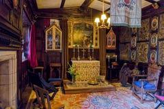 Kapellet, Baddesley Clinton Manor House, Warwickshire Royaltyfri Fotografi
