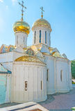 Kapellet för Nikon ` s av Treenighetdomkyrkan i Sergiyev Posad Royaltyfri Bild
