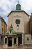 Kapellet Tempietto av Sant 'Antonio i Rimini, Italien arkivfoto