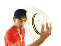 kapelusz faceta Obrazy Royalty Free