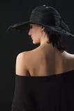 kapelusz głowa jej ładna kobieta Obrazy Royalty Free
