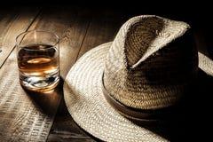 Kapelusz i alkohol Zdjęcie Royalty Free