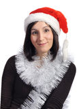 kapelusz kobieta odosobniona czerwona zdjęcia stock
