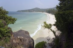 kapelusz na plaży kh nang pha Thailand Yao Obrazy Royalty Free