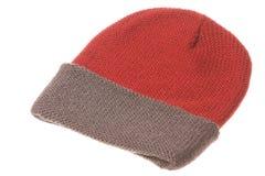 kapelusz odizolowywająca dzianina Zdjęcia Royalty Free