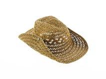 kapelusz odizolowywający na białym tle, kowbojski kapelusz Fotografia Stock