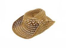 kapelusz odizolowywający na białym tle, kowbojski kapelusz Obrazy Royalty Free