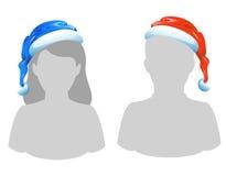 kapelusz s Santa royalty ilustracja