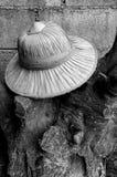Kapelusz Siam, kapeluszowy Tajlandia, sztuka biały i czarny wizerunek Zdjęcie Royalty Free