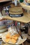 Kapelusze dla sprzedaży w Majorca Zdjęcia Stock