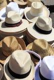 kapelusze Panama Fotografia Stock