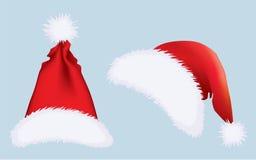 kapelusze s Santa royalty ilustracja