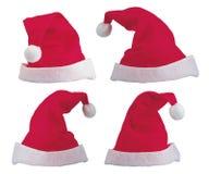 kapelusze Santa Zdjęcia Stock